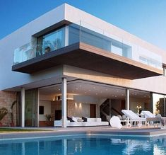 Luxury Modern Home and Pool #residentialarchitecture