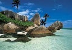 Anse Source de Argent, La Digue, Seychelles-just as beautiful in real life.