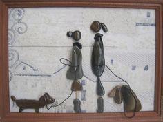 Купить СОБАКИ-1 - бежевый, морские камушки подарок, отпуск, отпуск на море, памятный подарок