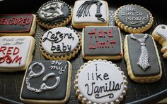 50 Shades of Grey Cookies Custom Cookies  by 4theloveofcookies, $35.00