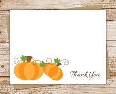 pumpkin thank you cards   set of 8  autumn by Celebrate the Little Things
