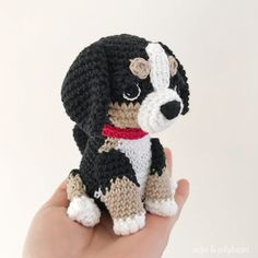 Made to Order BERNESE MOUNTAIN DOG crochet amigurumi Bernese Mountain, Mountain Dogs, Dog Crochet, Crochet Hats, All Toys, Toy Sale, Jelly Beans, Hand Sewing, Dogs And Puppies