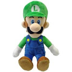 "Little Buddy Toys Luigi 16"" Plush >>> You can find out more details at the link of the image. (This is an affiliate link) #PlushFigures"