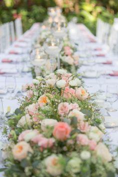Flower runner: http://www.stylemepretty.com/florida-weddings/miami-fl/2014/09/25/coconut-grove-miami-garden-wedding-at-villa-woodbine/ | Photography: 13:13 Photography - http://1313photography.com/