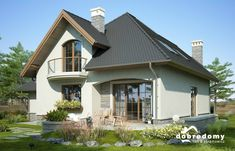 Bella II - Dobre Domy Flak & Abramowicz Minimalist House Design, Minimalist Home, Design Case, Home Fashion, Gazebo, House Plans, Villa, Home And Garden, Outdoor Structures