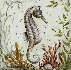 . Sea Life Art, Sea Art, Seahorse Art, Seahorses, Beach Clipart, Coral Print, Sea Dragon, Animal Alphabet, Life Drawing