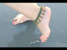 Tornozeleira de Pérolas Verde Jade - Maguida Silva - YouTube