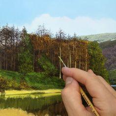 In this painting tutorial I am going to share some tips for painting beautiful trees. I also show you a step by step painting tutorial on how to paint a landscape that features lots of broadleaf trees. Acrylic Painting Techniques, Painting Videos, Online Painting, Watercolor Landscape, Landscape Paintings, Acrylic Landscape Painting, Watercolor Artists, Nature Paintings, Acrylic Art