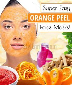 Face Masks Recipes : 3 Super Easy Orange Peel Face Masks!