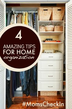 4 Amazing Tips for Home Organization #MomsCheckIn