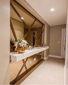15 trendy home decored ideas modern hallway Decor Interior Design, Interior Design Living Room, Furniture Design, Interior Decorating, Furniture Ideas, Interior Livingroom, Bedroom Furniture, Wall Mirrors Entryway, Lighted Wall Mirror