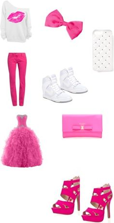 PINK PROM by jsf2004 on Polyvore featuring interior, interiors, interior design, home, home decor, interior decorating, Amor, Trust & Truth, NIKE, 2Me Style and Kate Spade