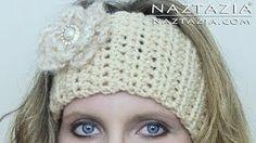 DIY Learn How to Crochet Easy Headband Wrap with Flower (Hair Head Band Ear Warmer) - YouTube