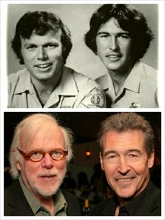 """TV Show: Emergency Kevin Tighe & Randolph (Randy) Mantooth  """"Roy & Johnny""""  THEN AND NOW"""