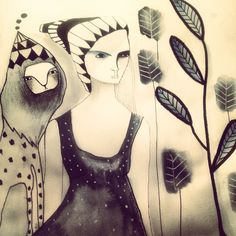 Akvarell By Emma Larsson