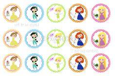 Disney Princess bottlecap image sheet (2 of 2)