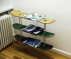 Skateboard Shelf reuse, recycle! skateboard shelves. finding a purpose for adam's