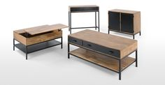 Lomond Lift Top Coffee Table with Storage, Mango Wood and Black No dining room? Join the (breakfast) club.