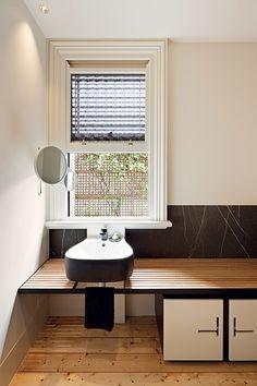 east melbourne house   bathroom ~ zoe geyer architect