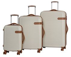 Luggage Sets Collections | it luggage Valiant Hardside 8 Wheel Expandable 3Piece Luggage Spinner Set 29 25 and 19 Cream -- Check out the image by visiting the link. Note:It is Affiliate Link to Amazon. #love