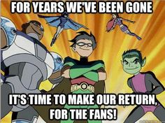 Please! Teen titans is WAY better than the lazy, badly drawn teen Titans Go! Repin if you agree!