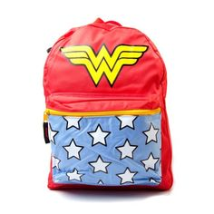 Official Wonder Woman Classic Logo Backpack Rucksack with Gadgets and Artwork -- Discover this special product, click the image : Camping backpack