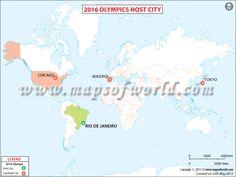 2016 Olympic Host City Map