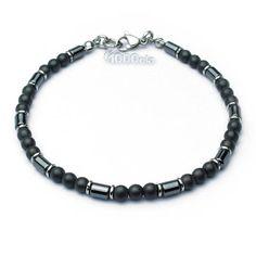 Elegant BRACELET men/Men's beads o4mm stones natural