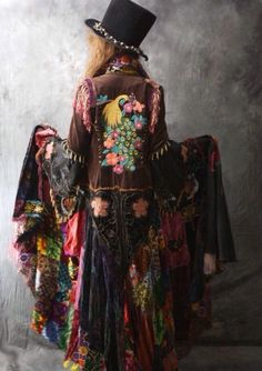 Love this bohemian cloak, reminds me of Misty Day's character style in AHS