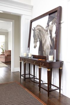 Large horse art in beautiful hallway! #charleighscookies #equestrianlife #equinedecor