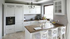 new Ideas shabby chic kitchen diner Open Plan Kitchen Living Room, Cozy Kitchen, Shabby Chic Kitchen, Home Decor Kitchen, Rustic Kitchen, Kitchen Interior, Home Kitchens, Diner Kitchen, Kitchen Islands