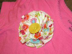 Flower embellishment for my daughter's shirt.    http://kschoff21.blogspot.com/