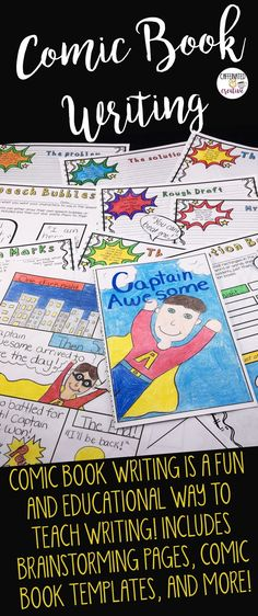 Comic Book Writing Activity and Templates are a fun and creative way to get your students creative writing juices flowing. Comes with plenty of brainstorming pages, character plans, rough drafts and different comic strip and comic book formats for an awesome final product!