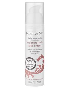 Balance Me Moisture Rich Face Cream £24