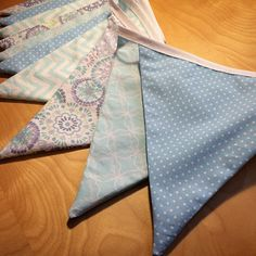 Beautiful baby blue coloured string of bunting. Perfect for a #nursery, #babyshower, #wedding, the possibilities are endless!