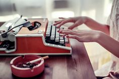 #typewriter #red nails  uch photography