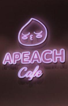 kakao friends, Pink, sign, curved light, Apeach cafe Cute Pastel Wallpaper, K Wallpaper, Friends Wallpaper, Wallpaper Iphone Cute, Cute Wallpapers, Apeach Kakao, Vaporwave Wallpaper, Cherry Blossom Girl, Neon Words