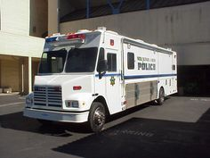 MVPD Mobile Command vehicle.  From here, incident and tactical commanders are able to plan and coordinate various operations.