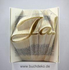 Buchdeko - Origami mit Büchern - Hochzeit Geschenk