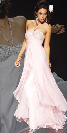 A-line Halter Asymmetrical Chiffon Prom Dress - Prom Dresses