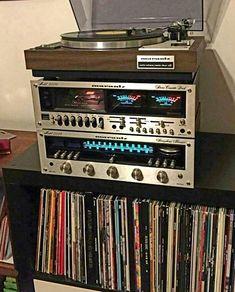 Marantz audio system – Best Audio Room Ideas, Tips and Images Radios, Home Studio Music, Audio Studio, Hifi Audio, Audiophile Music, Car Audio, Vinyl Storage, Vinyl Junkies, Audio Room