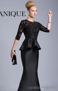 Long length peplum dress