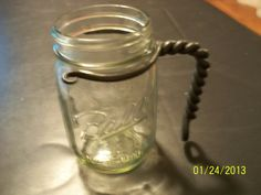 Mason Jar Handle by DiamondSForge on Etsy