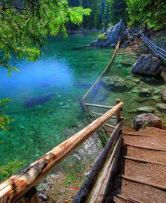 Lago di Carezza in South Tyrol, Italy.