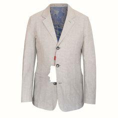 LUCIANO BARBERA $1,150 linen cotton 3-button sportcoat blazer jacket 38/48 NEW #LucianoBarbera #ThreeButton