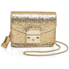 Furla Metropolis Mini Crossbody ($348) ❤ liked on Polyvore featuring bags, handbags, shoulder bags, gold, gold shoulder bag, brown purse, mini crossbody handbags, crossbody shoulder bags and mini handbags