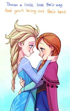 Frozen - Queen Elsa x Princess Anna - Elsanna Film Disney, Disney Fan Art, Disney Frozen, Disney Movies, Disney Pixar, Disney Marvel, Disney Magic, Frozen Anime, Frozen Cartoon