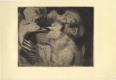 Käthe Kollwitz (Königsberg, 1867 - Moritzburg, 1945) Tod und Frau um das Kind ringend. 1911.
