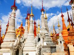 Pay a visit to the Shwe Indein Pagoda, a cluster of Buddhist pagodas in the village of Indein, near Inle Lake, Myanmar with Sanctum Inle Resorts. It's all about  extraordinaries here.