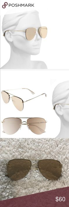 """Women's gold Le Specs """"the prince"""" Perfect condition. No signs of wear! These beautiful glasses are sold out!!! le specs Accessories Glasses"""